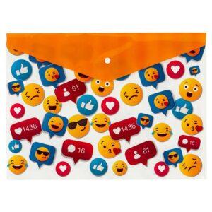 Bigpoint Çıtçıtlı Dosya A4 Emoji Desenli